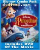 Pinocchio (Two-Disc 70th Anniversary Platinum Edition + Standard DVD+ BD Live) [Blu-ray]
