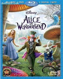 Alice in Wonderland - 3-Disc BD Combo Pack (BD+DVD+Digital Copy) [Blu-ray]