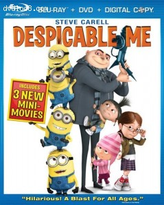 Cover Image for 'Despicable Me (Three-Disc Blu-ray/DVD Combo + Digital Copy)'