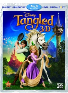 Tangled (Four-Disc Combo: Blu-ray 3D/Blu-ray/DVD/Digital Copy) Cover
