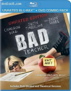Bad Teacher (Unrated) (Two-Disc Blu-ray/DVD Combo) Cover