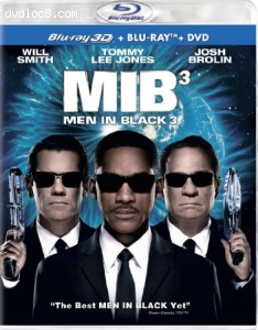 Men in Black 3 (Three Disc Combo: Blu-ray 3D / Blu-ray / DVD + UltraViolet Digital Copy) Cover