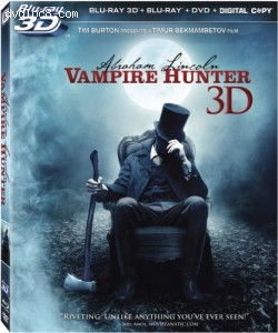 Cover Image for 'Abraham Lincoln: Vampire Hunter 3D (Blu-ray 3D)'