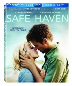 Cover Image for 'Safe Haven (Blu-ray + DVD Combo)'