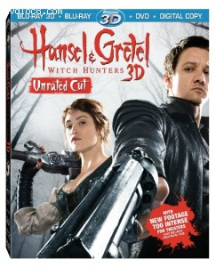 Hansel & Gretel: Witch Hunters, Unrated Cut (Blu-ray 3D / Blu-ray / DVD / Digital Copy + UltraViolet) Cover