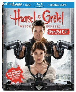 Cover Image for 'Hansel & Gretel: Witch Hunters (Unrated Cut) (Blu-ray / DVD / Digital Copy + UltraViolet)'