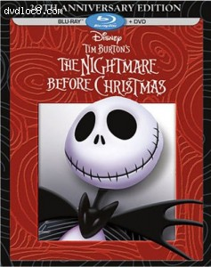 Tim Burton's The Nightmare Before Christmas - 20th Anniversary Edition (Blu-ray / DVD Combo Pack) Cover
