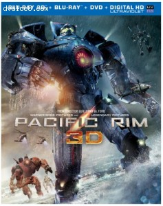 Pacific Rim (Blu-ray 3D + Blu-ray + DVD + UltraViolet Combo Pack)