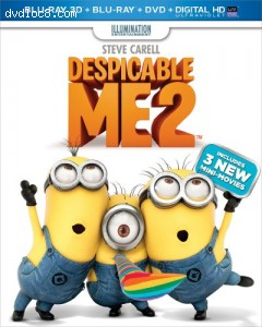 Despicable Me 2 (Blu-ray 3D + Blu-ray + DVD + Digital HD with UltraViolet) Cover