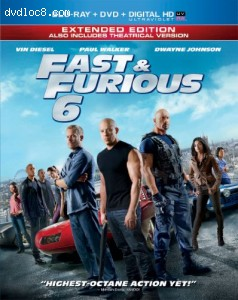 Fast & Furious 6 (Extended Edition) (Blu-ray + DVD + Digital HD with UltraViolet)