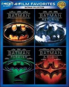 Batman Collection: Four Film Favorites Blu-ray (Batman / Batman Returns / Batman Forever / Batman & Robin)