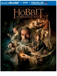The Hobbit: The Desolation of Smaug (Blu-ray + DVD + Digital HD UltraViolet Combo Pack) Cover