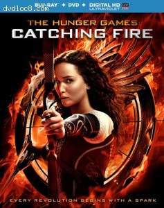 The Hunger Games: Catching Fire (DVD / Blu-ray Combo + UltraViolet Digital Copy) Cover