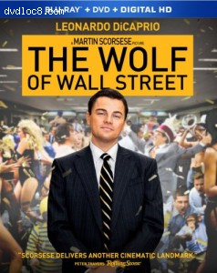 The Wolf of Wall Street (Blu-ray + DVD + Digital HD) Cover