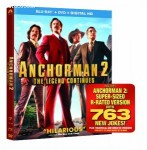 Cover Image for 'Anchorman 2: The Legend Continues (Blu-ray + DVD + Digital HD)'