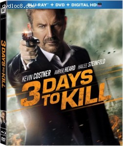 3 Days to Kill [Blu-ray] Cover