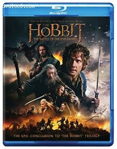 The Hobbit: The Battle of the Five Armies (Blu-ray + DVD + Digital HD UltraViolet Combo Pack) Cover