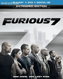 Furious 7 (Blu-ray + DVD + DIGITAL HD with UltraViolet) Cover