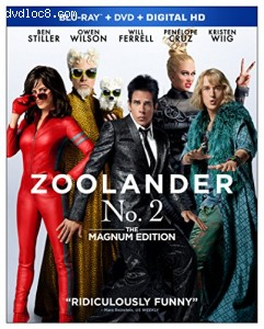 Zoolander No. 2: The Magnum Edition [Blu-ray] Cover