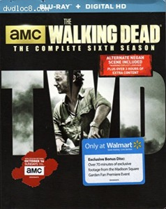 Walking Dead: The Complete Sixth Season Walmart Exclusive Edition Bluray, The
