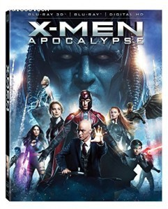 X-men: Apocalypse [Blu-ray 3D + Blu-ray + Digital HD] Cover