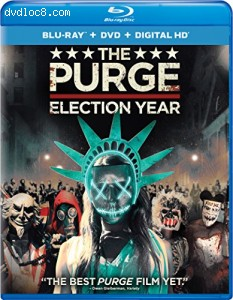 The Purge: Election Year (Blu-ray + DVD + Digital HD) Cover