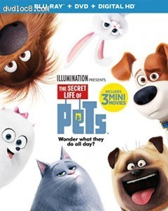 Secret Life of Pets, The [Blu-ray + DVD + Digital HD] Cover