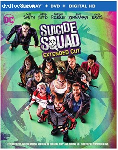 Suicide Squad - Extended Cut [Blu-ray + DVD + Digital HD] Cover