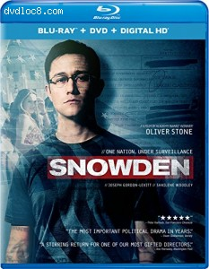 Snowden (Blu-ray + DVD + Digital HD) Cover