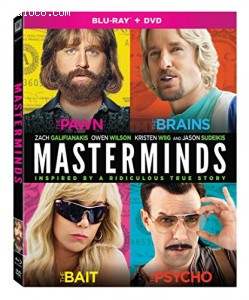 Masterminds [Blu-ray + DVD] Cover