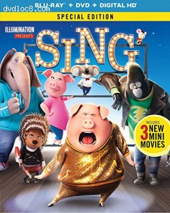 Sing - Special Edition [Blu-ray + DVD + Digital HD] Cover