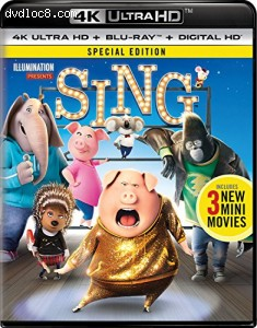 Sing - Special Edition [4K Ultra HD + Blu-ray + Digital HD]