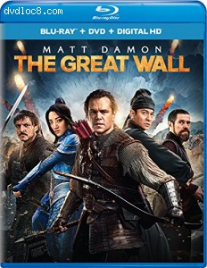 Cover Image for 'Great Wall, The (Blu-ray + DVD + Digital HD)'