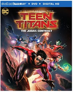 Teen Titans: Judas Contract [Blu-ray + DVD + Digital HD] Cover
