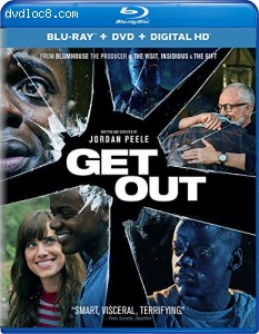 Get Out [Blu-ray + DVD + Digital HD] Cover