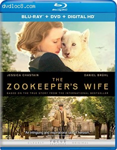 The Zookeeper's Wife [Blu-ray + DVD + Digital HD] Cover
