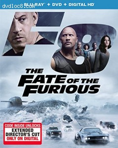 The Fate of the Furious [Blu-ray + DVD + Digital HD] Cover