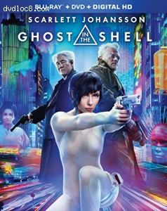 Ghost in the Shell [Blu-ray + DVD + Digital HD] Cover
