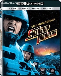 Starship Troopers 20th Anniversary (4K Ultra HD + Blu-ray + UltraViolet) Cover