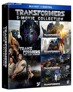 Transformers 5-Movie Collection [Blu-ray + Digital] Cover