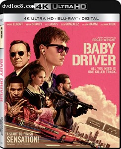 Cover Image for 'Baby Driver [4K Ultra HD + Blu-ray + Digital]'