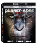 Cover Image for 'Planet of the Apes Trilogy [4K Ultra HD + Blu-ray + Digital]'