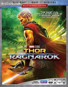 Cover Image for 'Thor: Ragnarok [Blu-ray + DVD + Digital]'