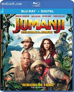 Jumanji: Welcome to the Jungle [Blu-ray + Digital] Cover