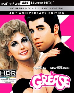 Grease: 40th Anniversary Edition [4K Ultra HD + Blu-ray + Digital] Cover