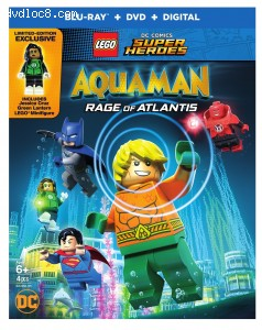 Lego DC Comics Super Heroes: Aquaman - Rage of Atlantis [Blu-ray + DVD + Digital] Cover