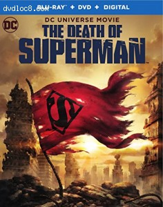 Cover Image for 'Death of Superman, The (Blu-ray + DVD + Digital HD)'