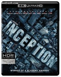 Cover Image for 'Inception (4K Ultra HD + Blu-ray + Digital)'