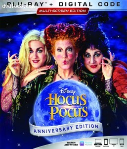 Cover Image for 'Hocus Pocus: Anniversary Edition [Blu-ray + Digital]'