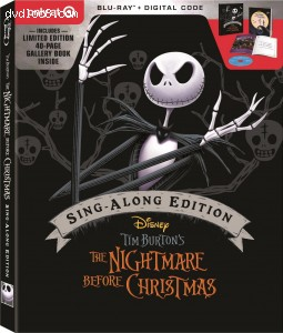 Nightmare Before Christmas, The: Sing-Along Edition (Target Exclusive DigiPack) [Blu-ray + Digital] Cover